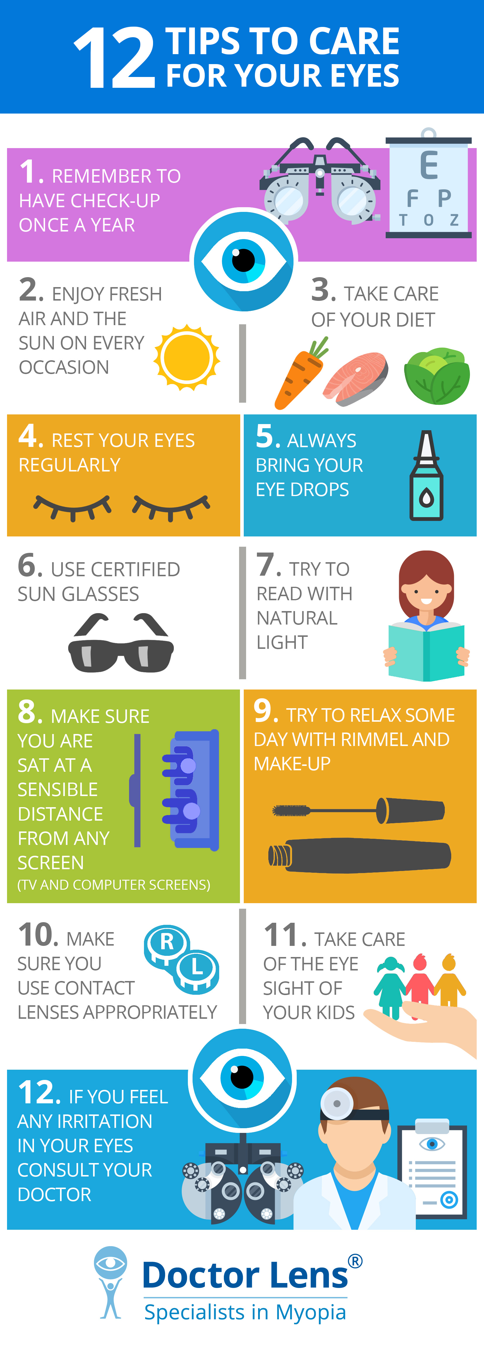 12 Tips to care for your eyes