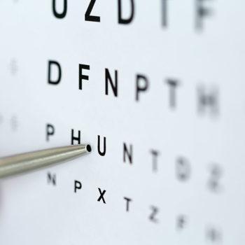 Optotipo para graduar la miopía
